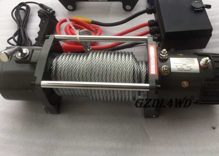 ประเทศจีน 12v Truck Heavy Duty Electric Winch 8.3mm Steel Wire 9500lbs For Off Road โรงงาน