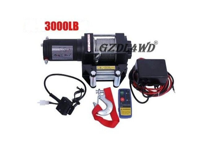 ประเทศจีน Mini 3000lbs 24V 12V Heavy Duty Electric Winch Wire Rope ATV with Automatic Braking Action โรงงาน