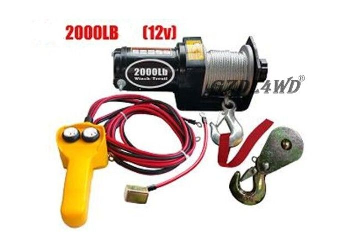 ประเทศจีน 12V 2000LB Heavy Duty Electric Winch Truck With ATV Rope Wireless Remote โรงงาน