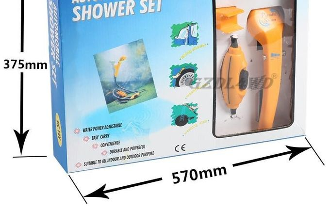 Travel Outdoor Camping Portable Shower 1.5 - 2L / Min ABS Plastic With 12V Car Plug